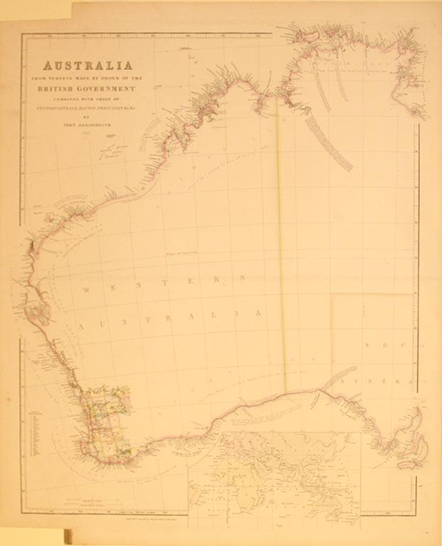 Australia From Surveys Made by Order of the British Government Combined with those of D'...