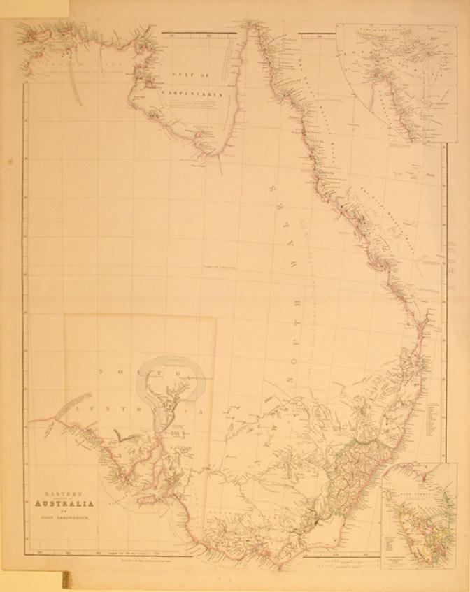 Eastern Portion of Australia by John Arrowsmith./(insets) Van Diemens Land/Torres Strait:...