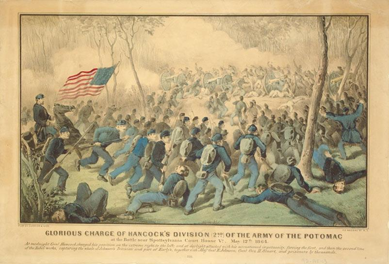 Glorious Charge of Hancock's Division (2nd) of the Army of the Potomac at the Battle near ...