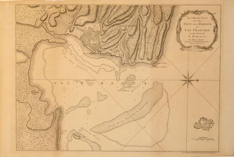 An Authentic Plan of the Town and Harbour of Cap Francois in the Isle of St. Domingo by Thomas ...