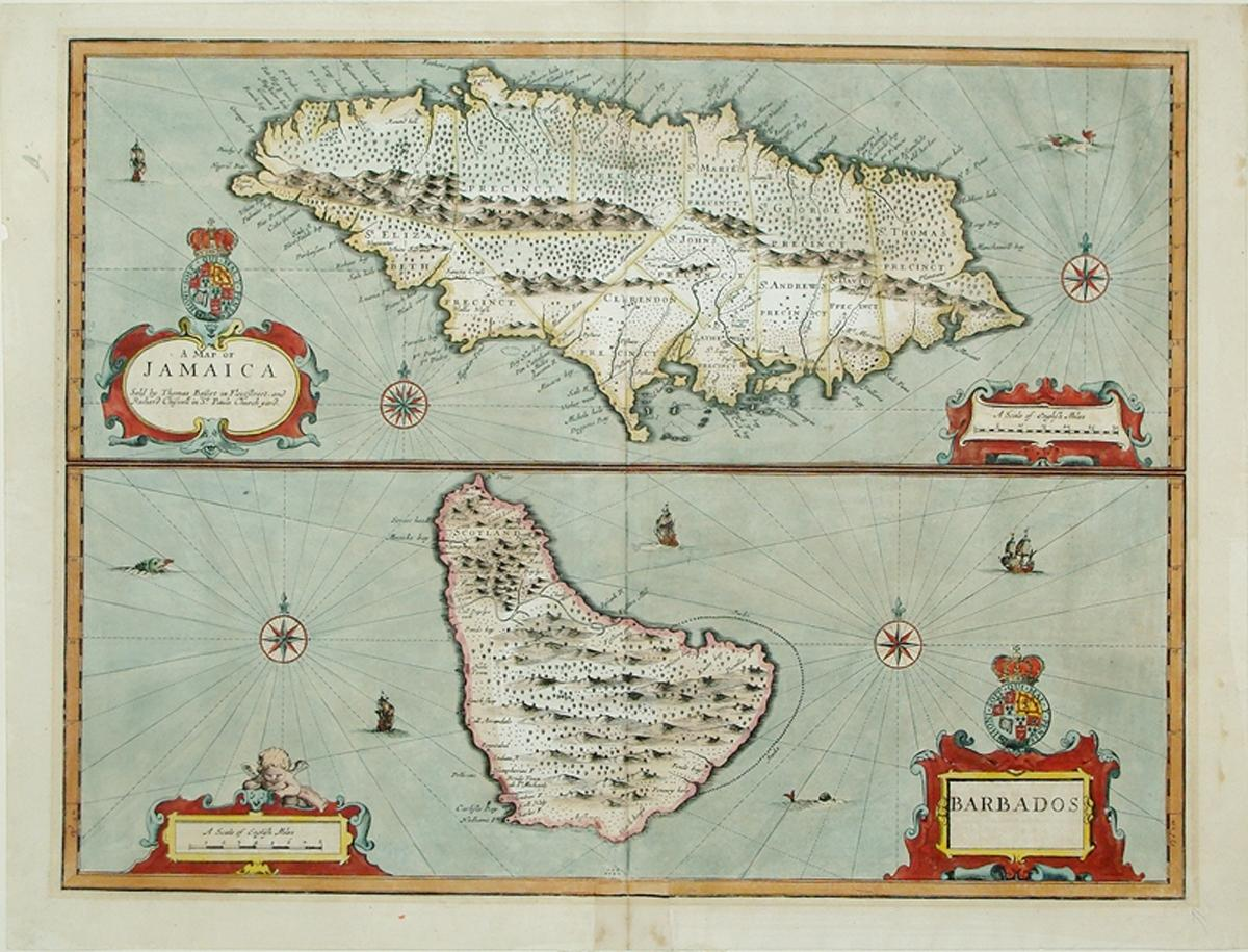 A Map of Jamaica Sold by Thomas Basset in Fleetstreet, and Richard Chiswell in St. Pauls Church ...