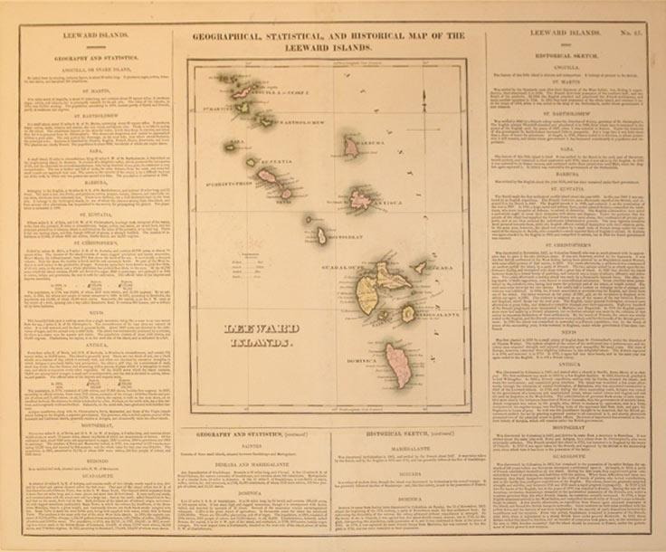 Geographical, Statistical, and Historical Map of the Leeward Islands.: J. Yeager