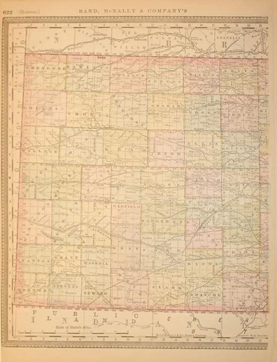 Rand, McNally & Company's Kansas (western half): Rand, Mcnally & Co.