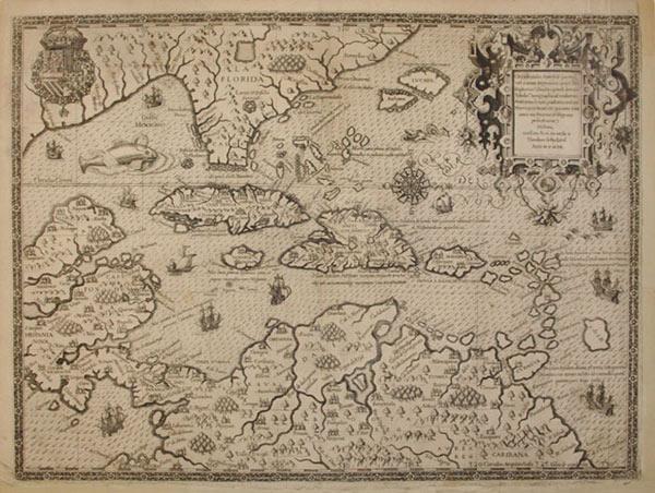 Occidentalis Americae Partis: Vel Earum Regionum Quas Christophorus Columbus Primum Detexit Tabula ...
