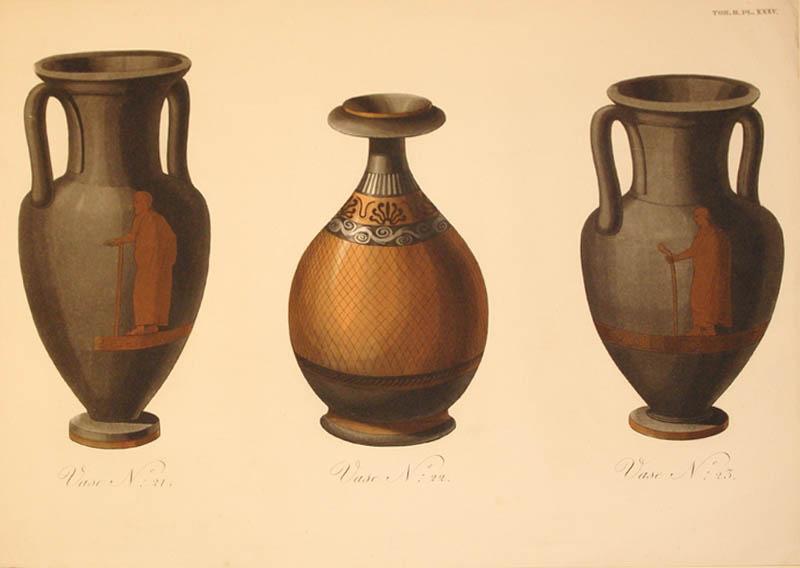 Vase N: 21. Vase N: 22. Vase N: 23. Plate XXXV.: Sir William Hamilton