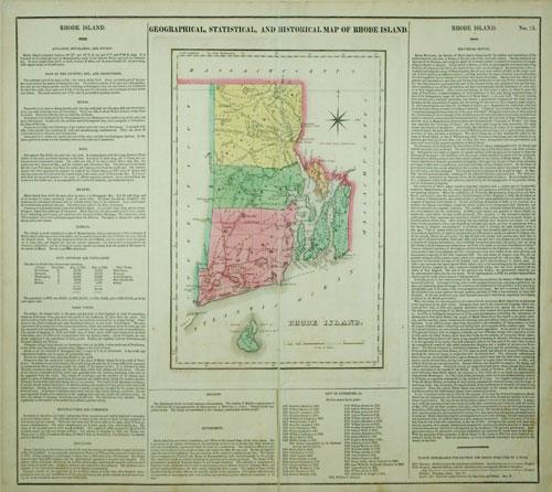 Geographical, Statistical, and Historical Map of Rhode Island.: Carey & Lea