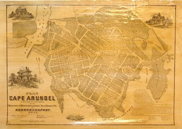 Plan of Cape Arundel A Section of the Lands of the Boston & Kennebunkport Sea Shore Co. At ...
