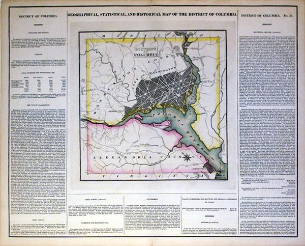 Geographical, Statisical, and Historical Map of the District of Columbia: Young & Delleker
