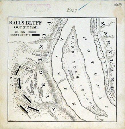 Ball's Bluff Oct. 21st 1861. (Virginia): J. Wells
