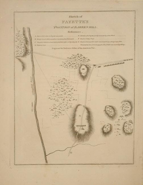 Sketch of Fayette's Position at Barren Hill. (Pennsylvania): Charles Stedman