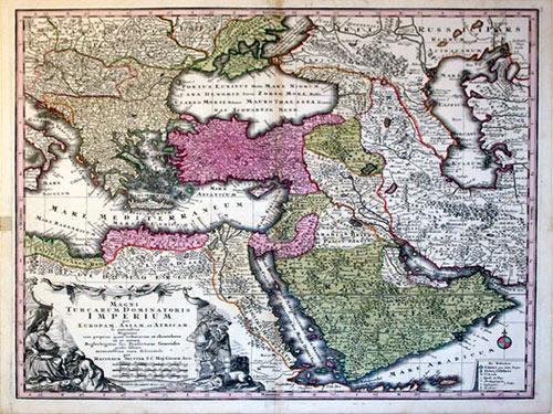 Magni Turcarum Dominatoris Imperium per Europam, Asia, et Africam (Turkey/Ottoman Empire): Matthaus...