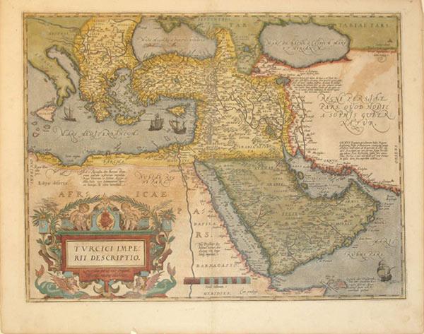 Turcici Imperii Descriptio (Turkey/Ottoman Empire): Abraham Ortelius