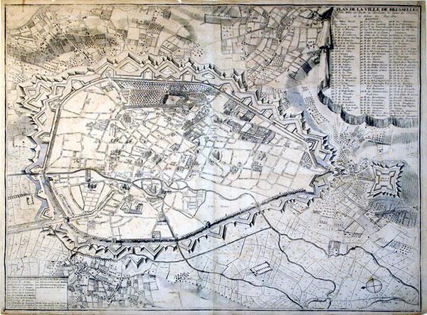 Plan de la Ville de Brusselles Ville Noble au Duche de Brabant , le Sejour de Princes et les ...