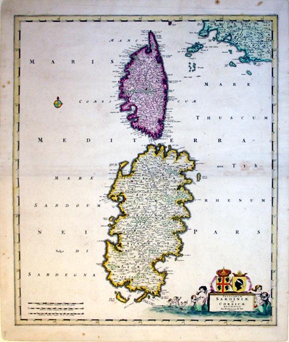 Insularum Sardiniae et Corsicae Descriptio Per Fredercum de Wit (Italy/Sardinia/Corsica): Frederick...