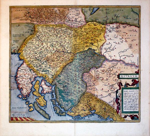Illyricum (The Balkans/Yugoslavia): Abraham Ortelius