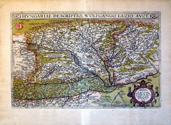 Hungariae Descriptio, Wolfgango Lazio Auct. (Hungary): Abraham Ortelius