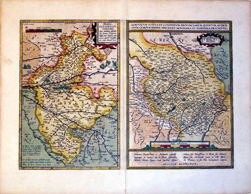 Blaisois, Blesiensis Territorii./Lemouicum Totius .(France/Blois/Bourges/Orleans/Limoges): Abraham ...