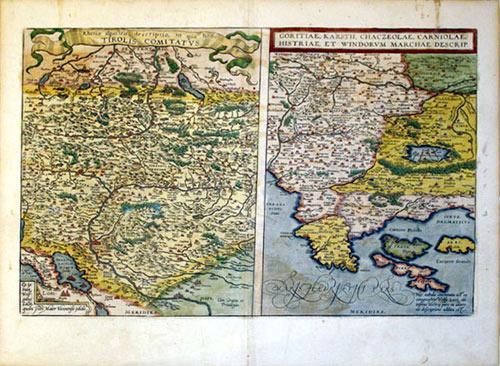 Rhetiae alpestris descriptio, in qua hodie Tirolis Comitatus/Goritiae, Karstii, chaczeolae, ...
