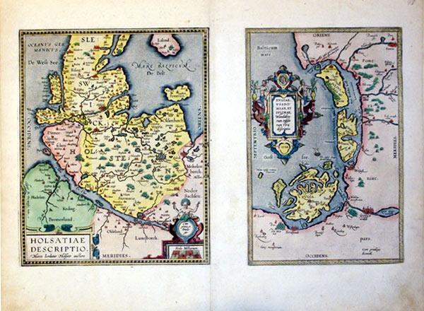 Holsatiae Descriptio(Holstein)/Rugiae, Usedomiae, Et Iulinae, Wandalicarum insularum Vera ...