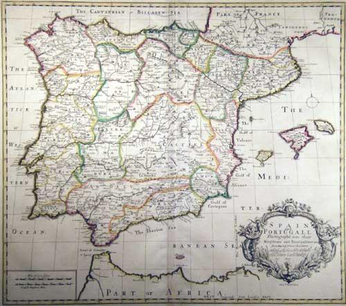 Spain and Portugall Distinguish't into their Kingdoms and Principalities &c. According to ...