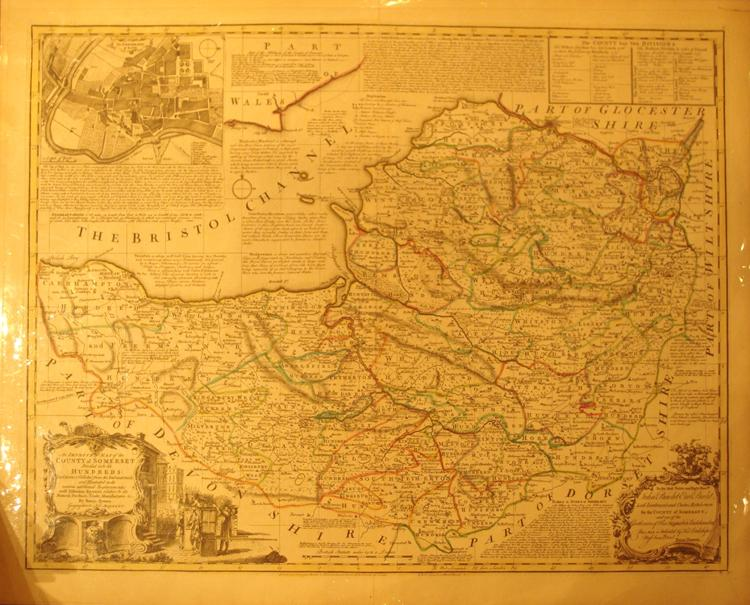 An Improved Map of the County of Somerset Divided into it's Hundreds: Laid down & ...