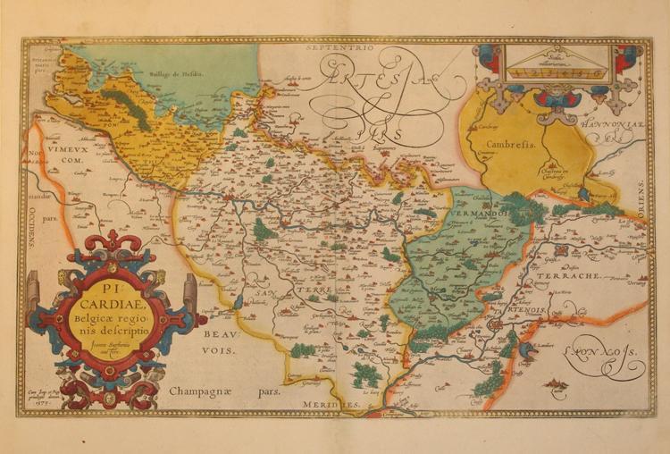 Picardiae, Beligica regionis descriptio. (Picardy/France): Abraham Ortelius