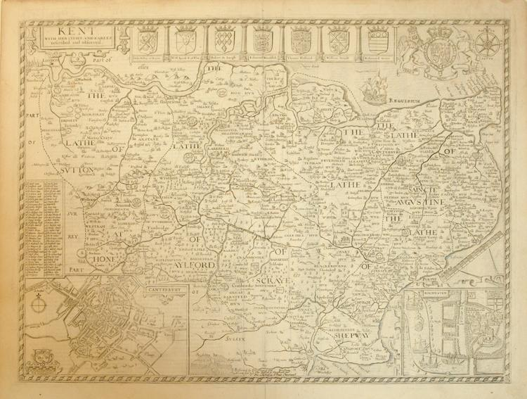 Kent with Her Cities and Earles described and observed. (England): John Speed