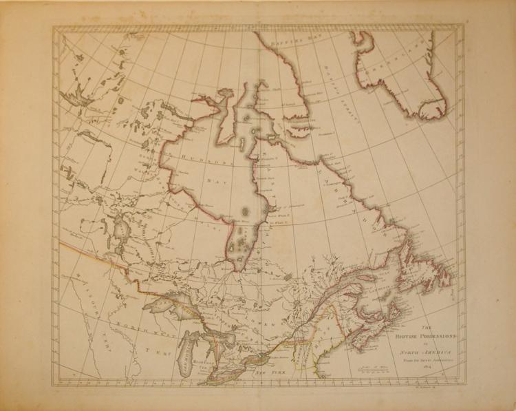 The British Possessions in North America From the Latest Authorities 1814. (Canada/Great Lakes): ...