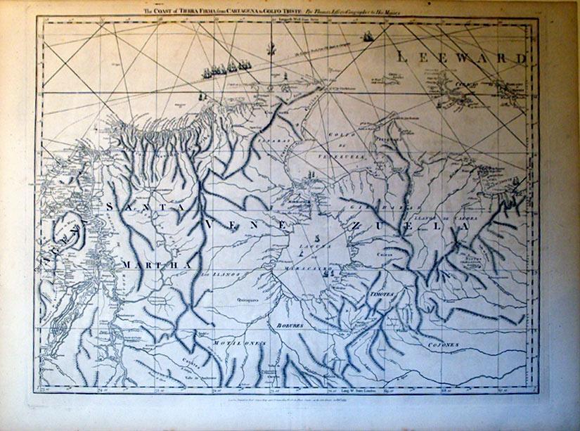 The Coast of Tierra Firma from Cartagena to Golfo Triste (Columbia/Venezuala): Thomas Jefferys