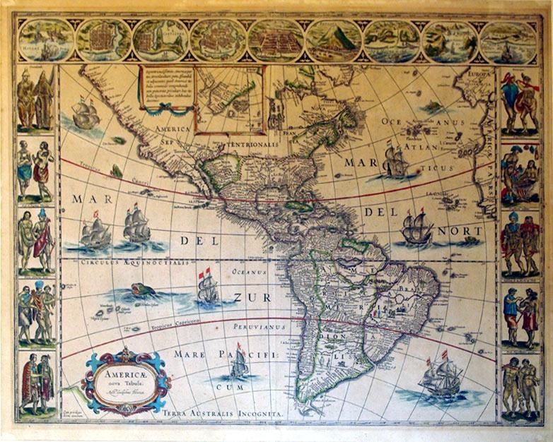 Americae nova Tabula (North and South America): Willem Blaeu