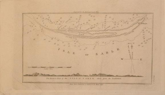 The Eastern End of the Isle of Sable taken from the Southward. (Canada): Edmund M. Blunt