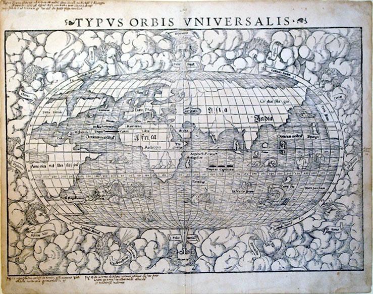 Typus Orbis Universalis (World): Sebastain Munster