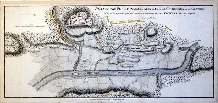 Plan of the Position which the Army under Lt. Genl. Burgoine took at Saratoga on the 10th of ...