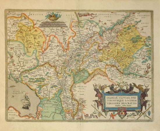 Gelriae, Cliviae, Finitimorumque Locorum Verissima Descriptio Christiano Schrot Auctore (...