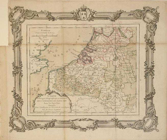 Carte Historique, Geographique et Militaire des Campanges de Louis XIV dans les Pays Bas. (France&#...