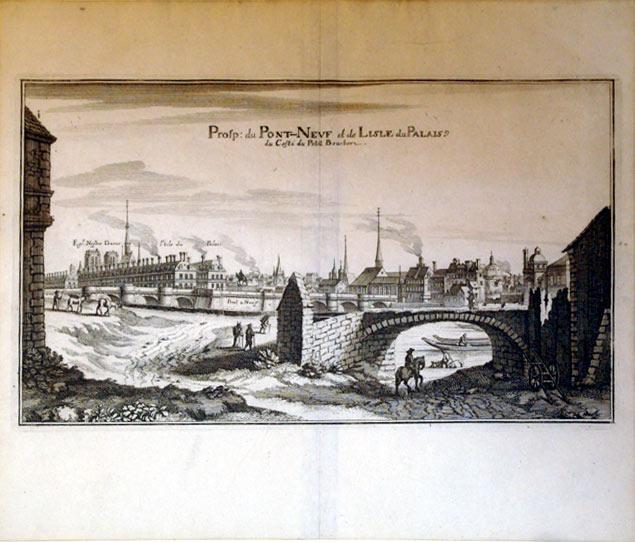 Prosp: du Pont-Neuf et de Lisle du Palais du Coste du Petit (France/Paris): Casper Meriaen