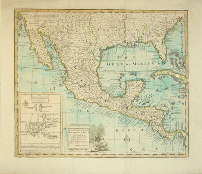 A New & Accurate Map of Mexico or New Spain together with California New Mexico &c. Drawn ...