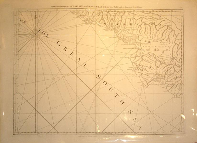 Part of the Provinces of Costa Rica and Nicaragua with the Lagunas: Thomas Jefferys