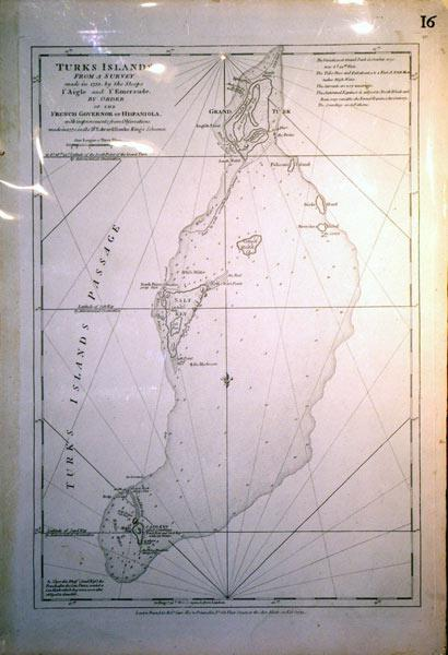 Turks Islands From a Survey made in 1753 by the Sloops l'Aigle and l'Emeraude, By Order of ...