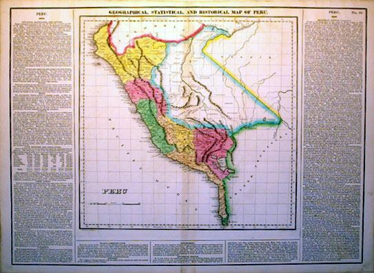 Geographical, Statistical, and Historical Map of Peru: J. Yeager