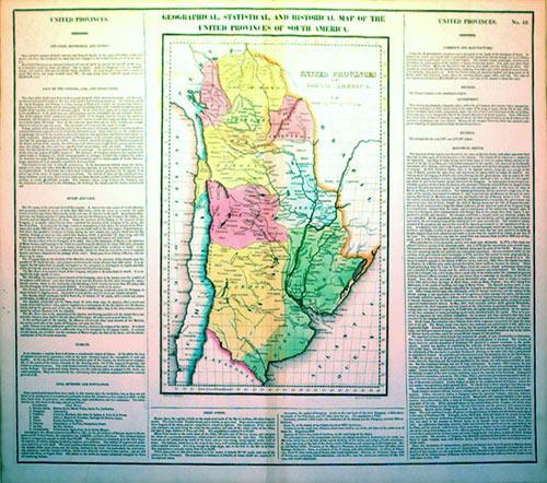 Geographical, Statistical, and Historical Map of the United Provinces of South America (Bolivia/...