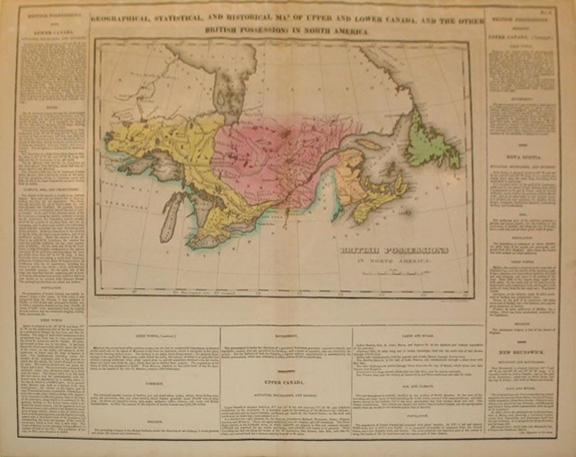 Geographical, Statistical, and Historical Map of Upper and Lower Canada, And the Other British ...