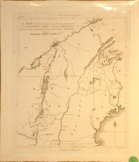A Map of the County which was the scene of operations of the Northern Army; including the ...