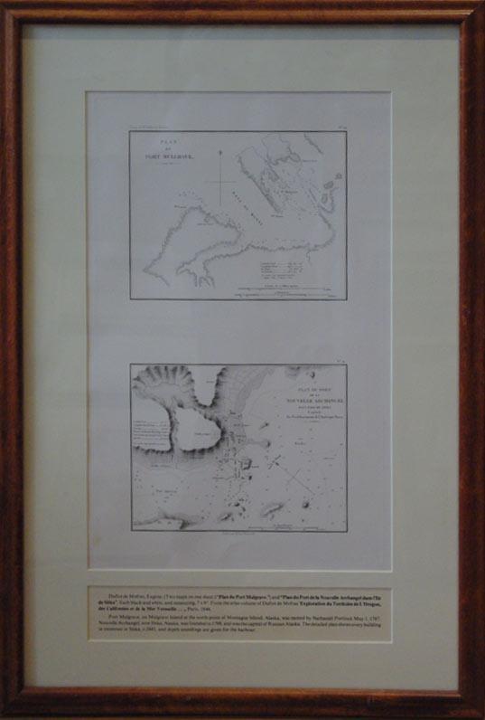Plan du Port Mulgrave/Plan du Port de la Nouvelle Archangel dans l'Isle de Sitka Capitale des ...