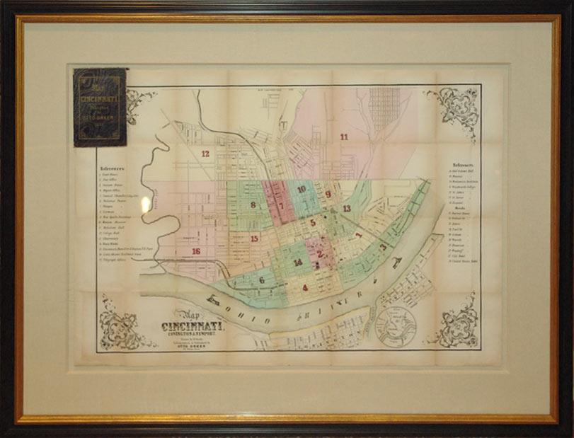 Map of Cincinnati, Covington & Newport (Ohio): B. Oertly