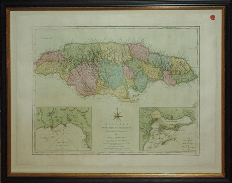 Jamaica From the Latest Surveys Improved and Engraved by Thomas Jefferys Georgrapher to the King&#...