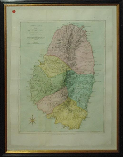 St. Vincent from an Actual Survey Made in the Year 1773, after the Treaty with the Cairibs. (West ...