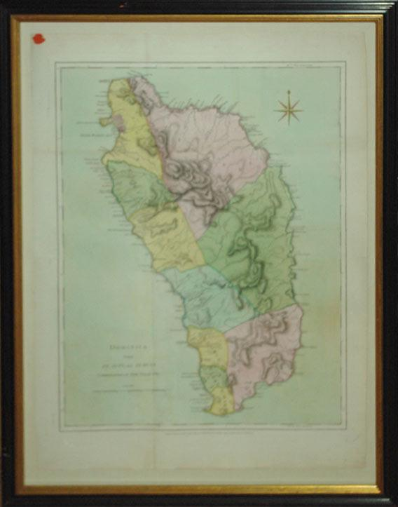 Dominica from an Actual Survey Compleated in the Year 1773. (West Indies): Thomas Jefferys