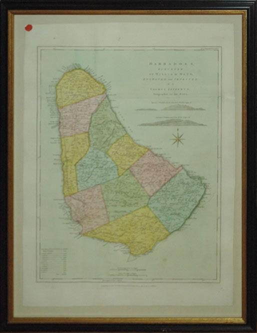 Barbadoes, Surveyed by William Mayo, Engraved and Improved by Thomas Jefferys, Geographer to the ...