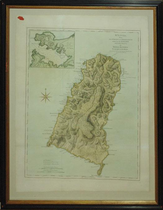 St. Lucia; Done from Surveys and Observations made by the English whilst in their Possession. By ...